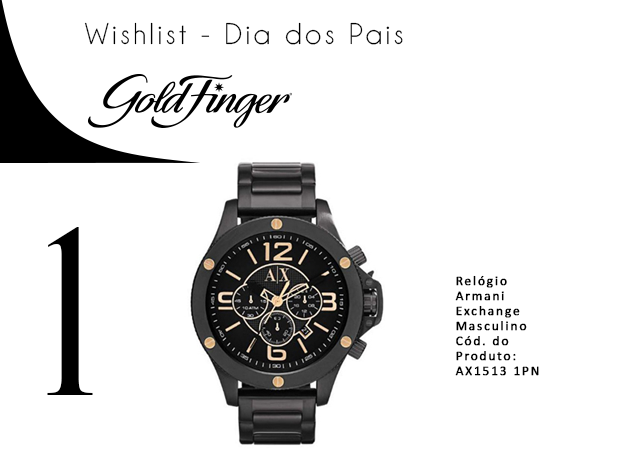 presentes dia dos pais gold finger