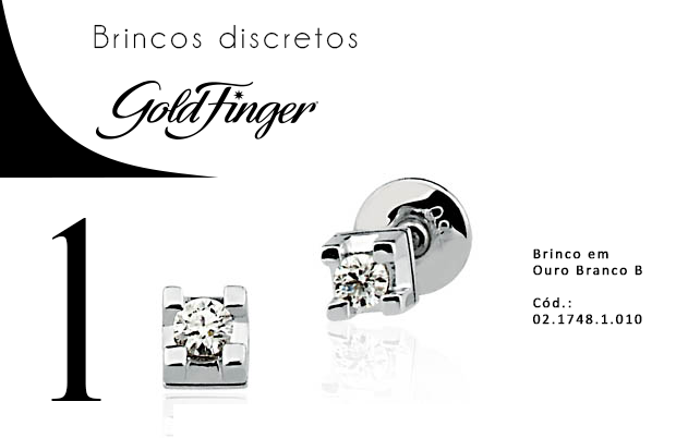 Brincos discretos + Gold Finger 1