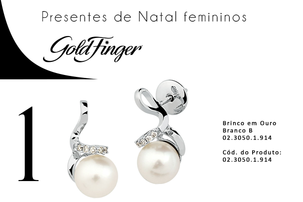 Presentes de natal femininos - Gold Finger + 1