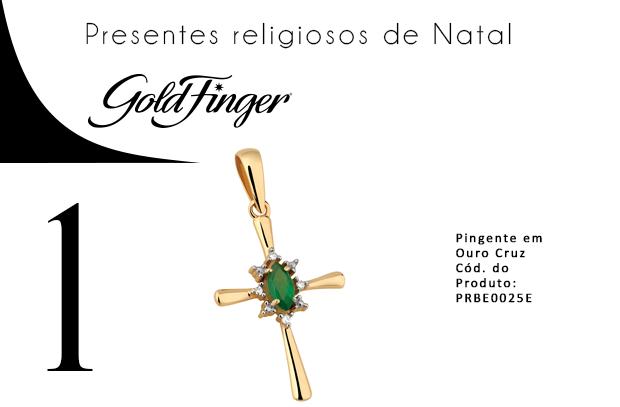 presentes religiosos de Natal + Gold Finger + 1