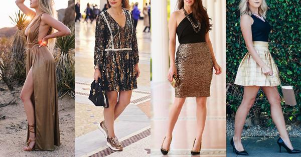 vestidos para o ano novo + dourado + Blog + Gold Finger + 8