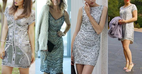 vestidos para o ano novo + prata + Blog + Gold Finger + 2