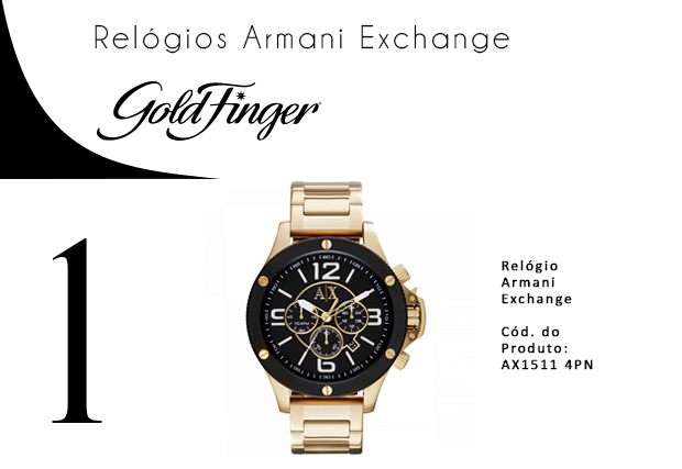 Relogios Armani Exchange - Gold Finger - 1