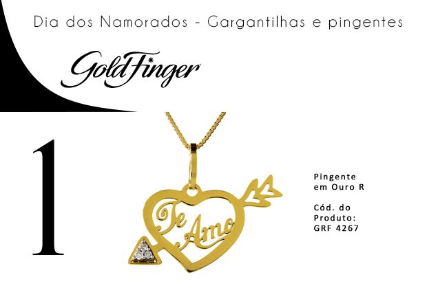 wishlist - Dia dos Namorados - Gargantilhas e pingentes - Gold Finger 1