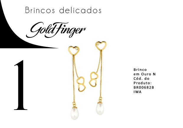 Brincos delicados - Gold Finger 1-min