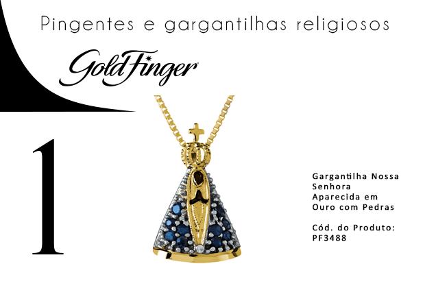 Pingentes e gargantilhas religiosos - Gold Finger 1-min