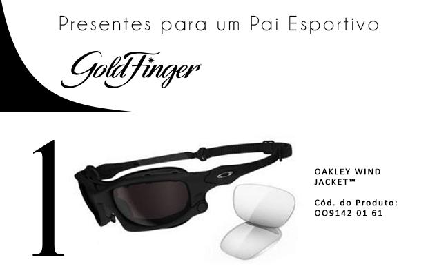 Presentes para um pai esportivo - Gold Finger 1